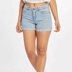 "Noisy May ""Lucy"" Denim Rolled Cuff Jean Shorts"